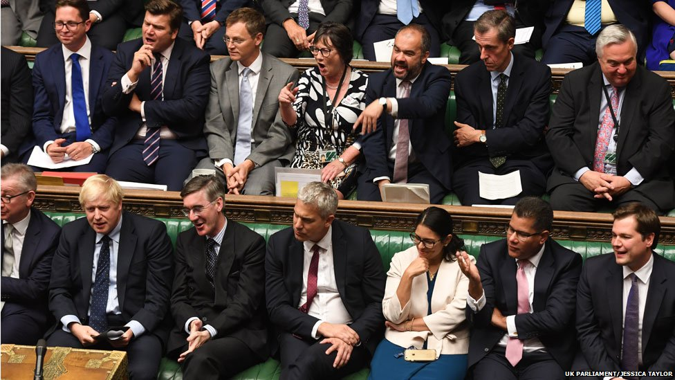 Conservative MPs at the emergency debate