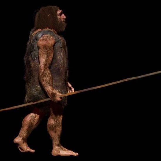 Ilustración de un neandertal