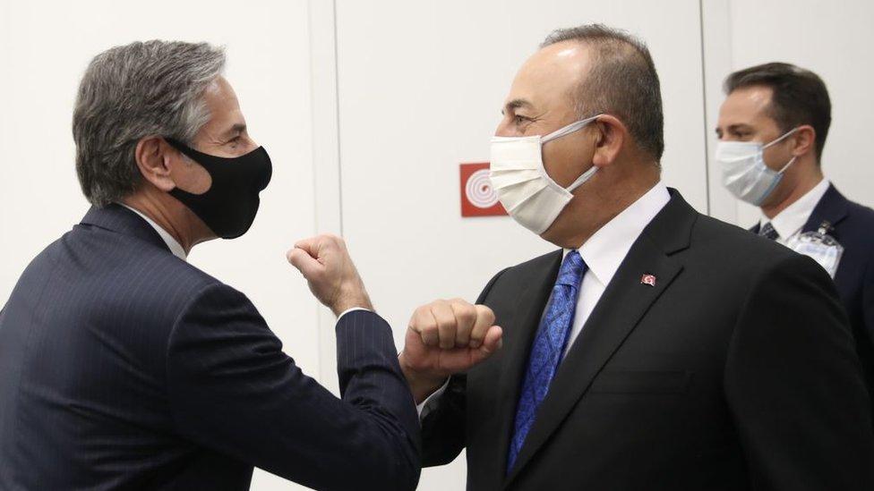 Dışişleri Bakanı Çavuşoğlu ile ABD'li mevkidaşı Blinken.