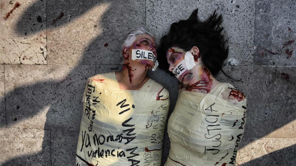 BBC. NO USAR. Protesta contra los femicidios en México
