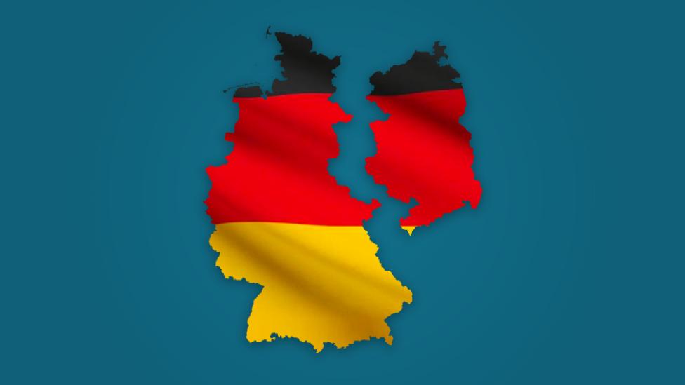Ilustración Alemania dividida