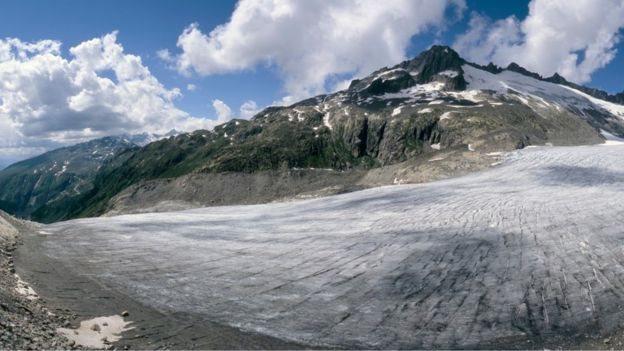 Glaciares con escaso hielo