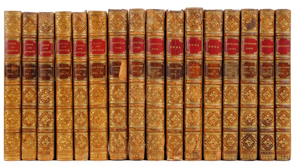 A complete set of first editions by Jane Austen