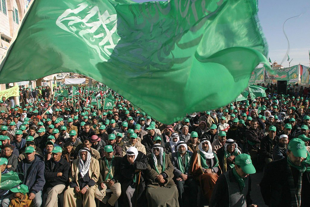 Un rally político de Hamás en Cisjornadia, 2006