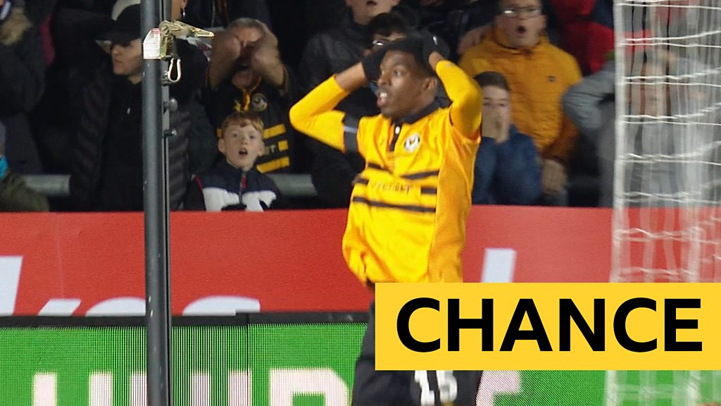 FA Cup: Ederson makes a stunning save to deny Newport a shock opener