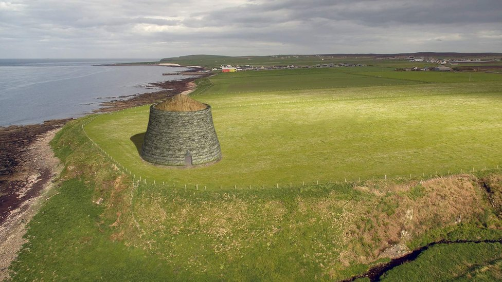 Visualisation of the broch replica by artist Martin Kelly