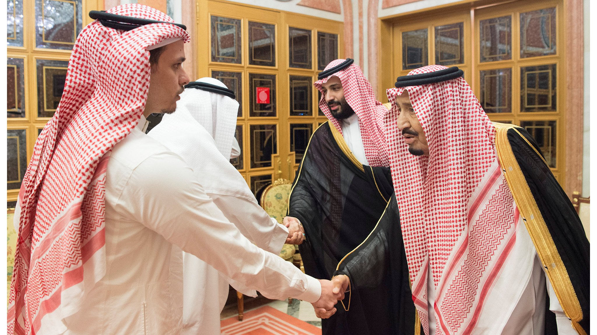 Jamal Khashoggi: Journalist's brother and son meet Saudi king and crown prince
