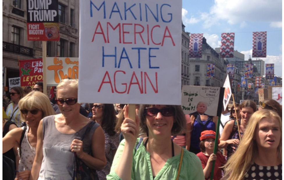 Rosey Taylor, participante en una protesta
