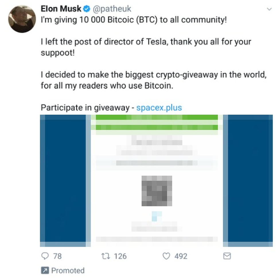 A Twitter post which appears to be from Elon Musk