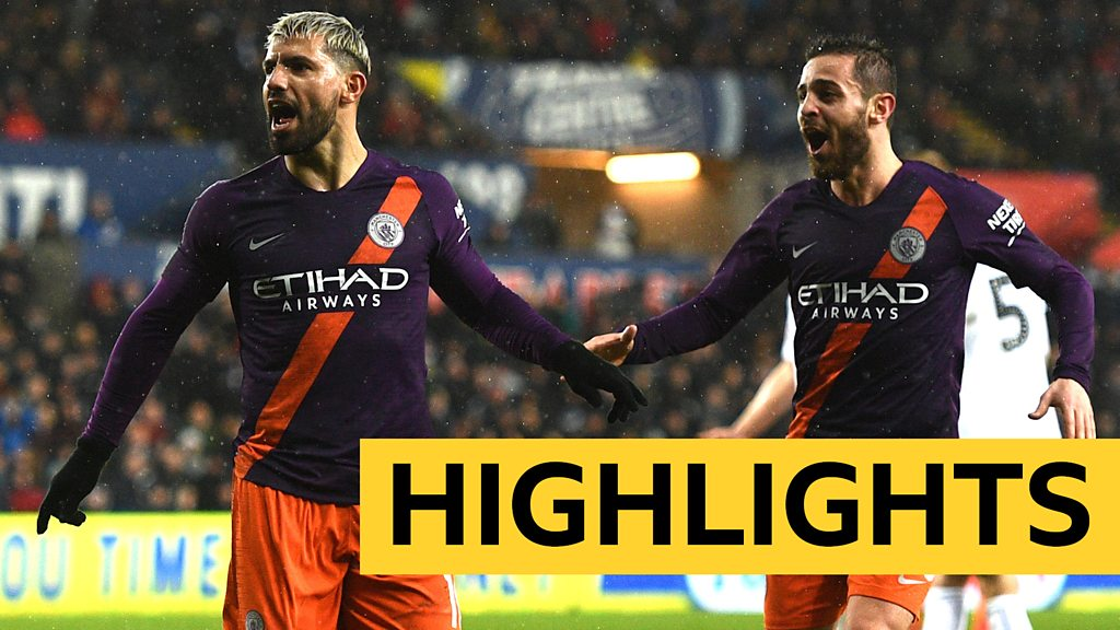 FA Cup: Swansea 2-3 Man City highlights
