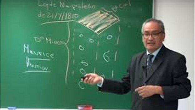Picture of Juan Francisco Baldeon in class