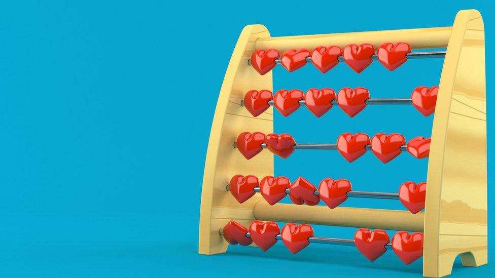 Abaco con corazones