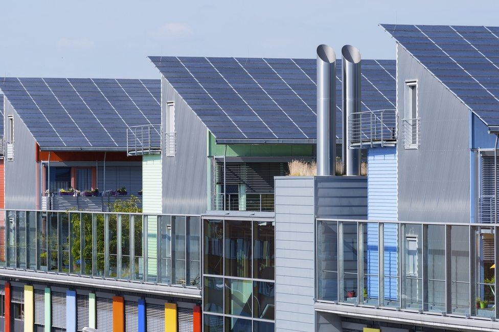 Eco-friendly homes in Vauban, Freiberg