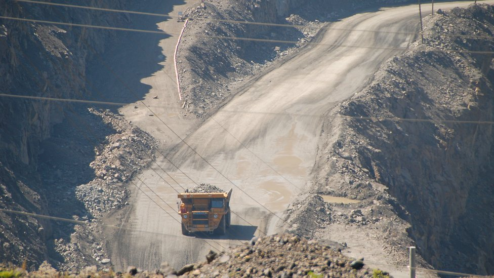 Rare earths mine in China