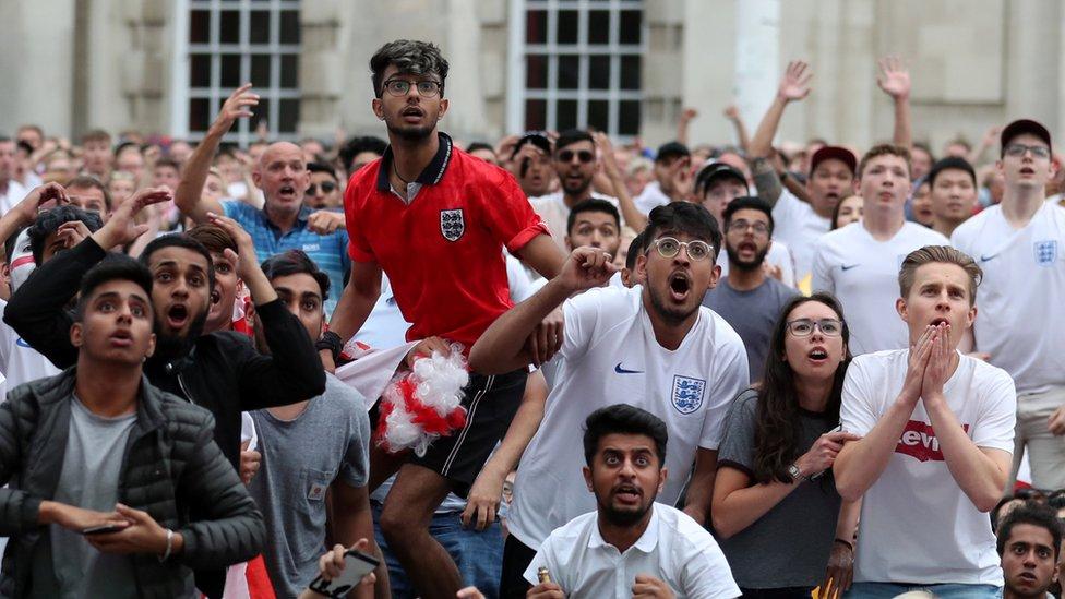 Supporters in Millennium Square, Leeds