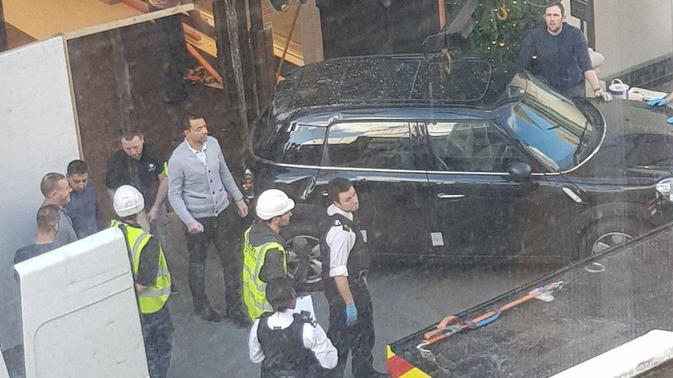 Car used in 'smash and grab' raid at Oxford Street Selfridges
