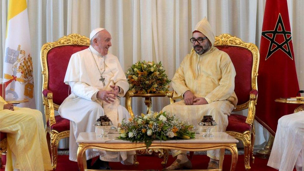 البابا فرانسيس والعاهل المغربي