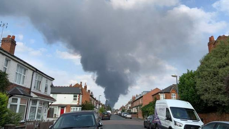 Fire as seen from Kings Heath