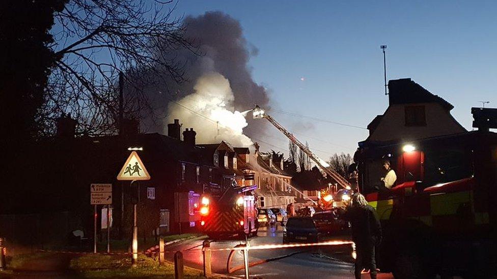 Biddenden fire: Four children taken to hospital