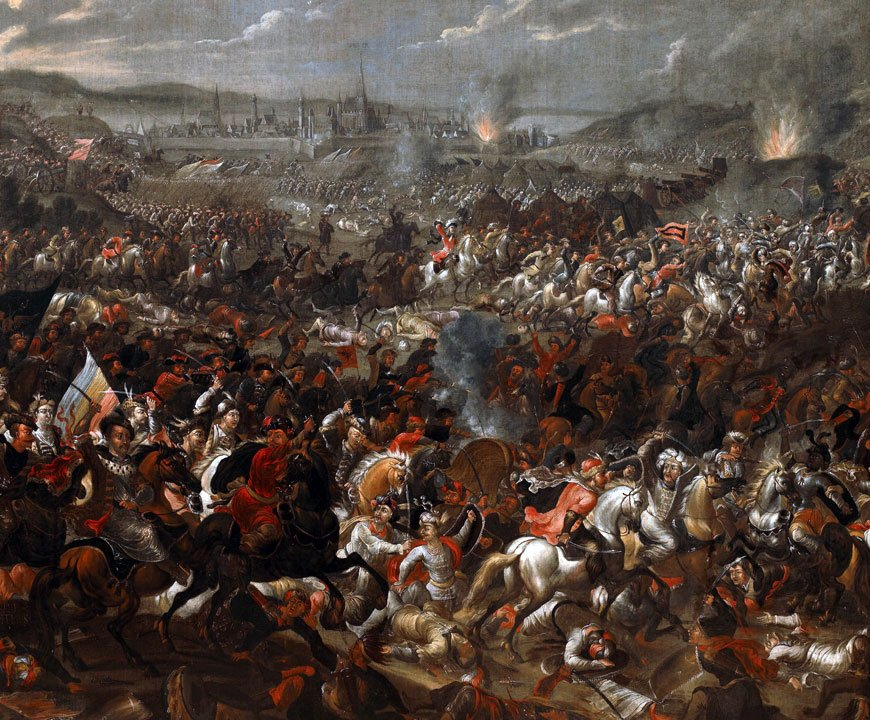 17th century painting depicting the Battle of Vienna