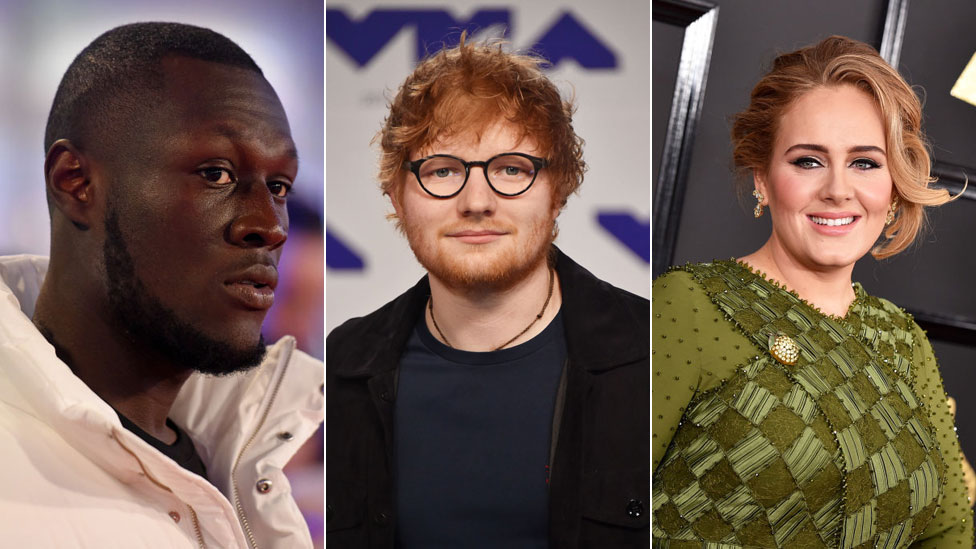 BBC News - Ed Sheeran tops Adele as Stormzy joins Sunday Times Rich List