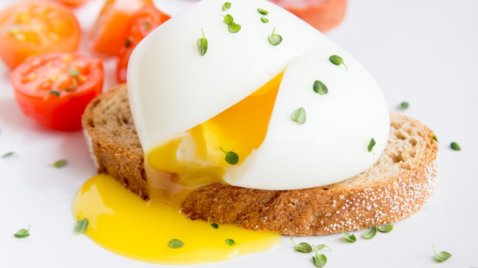 A poached egg on toast