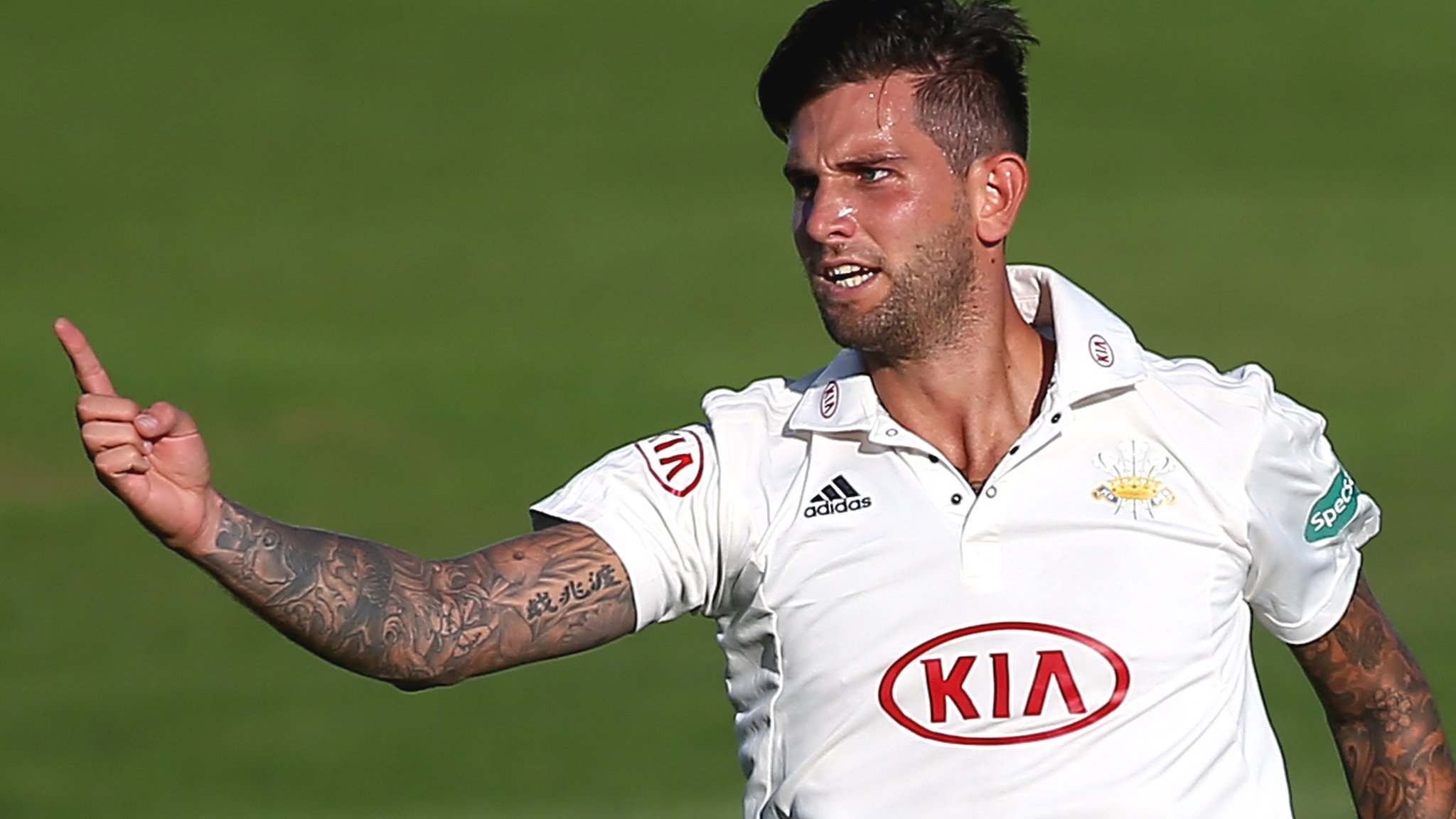 County Championship: Late wickets put Surrey in charge against Lancashire