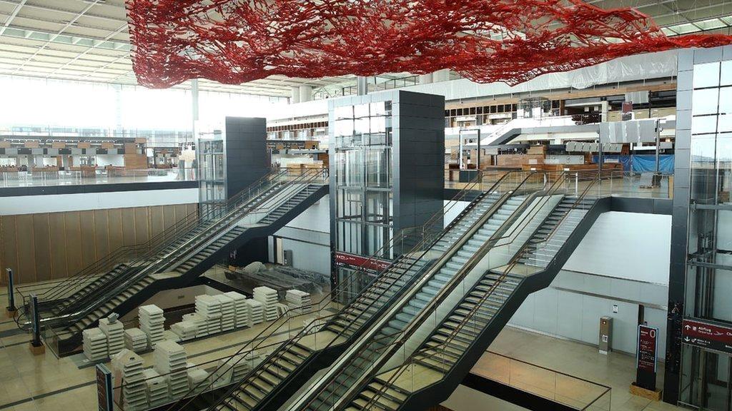 Las instalaciones del aeropuerto aún no han sido estrenadas.