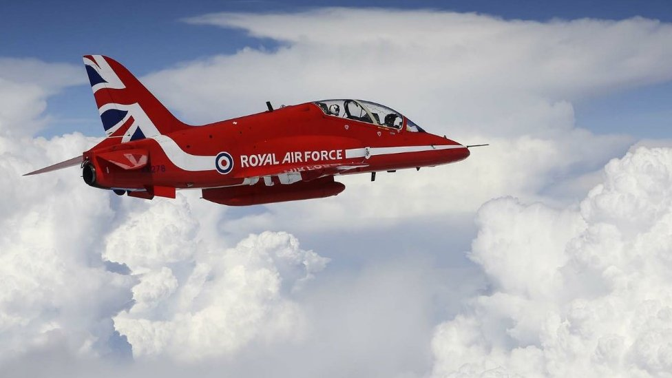 Red Arrows jet over India