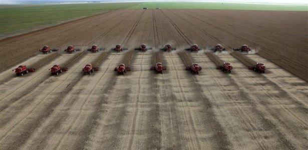 Recolección de granos.