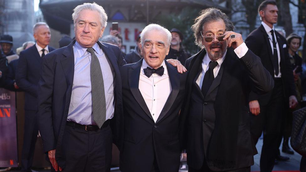 Robert De Niro, Martin Scorsese and Al Pacino