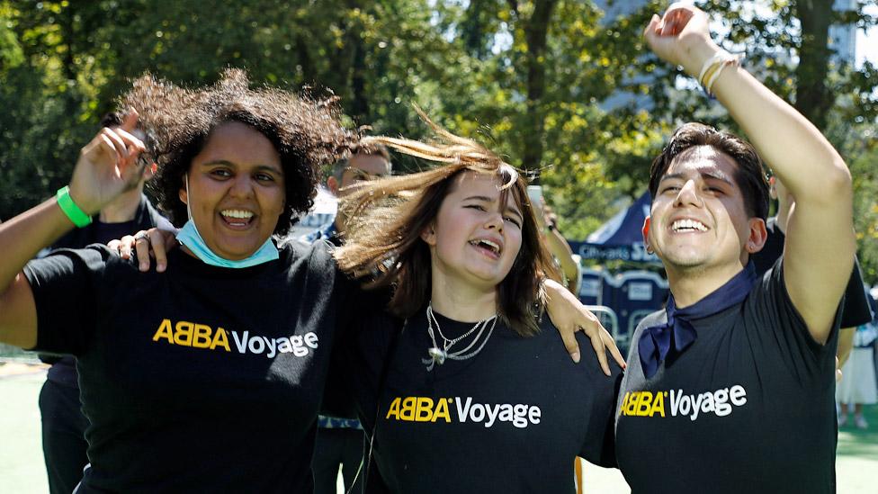 Fans de Abba en Nueva York.
