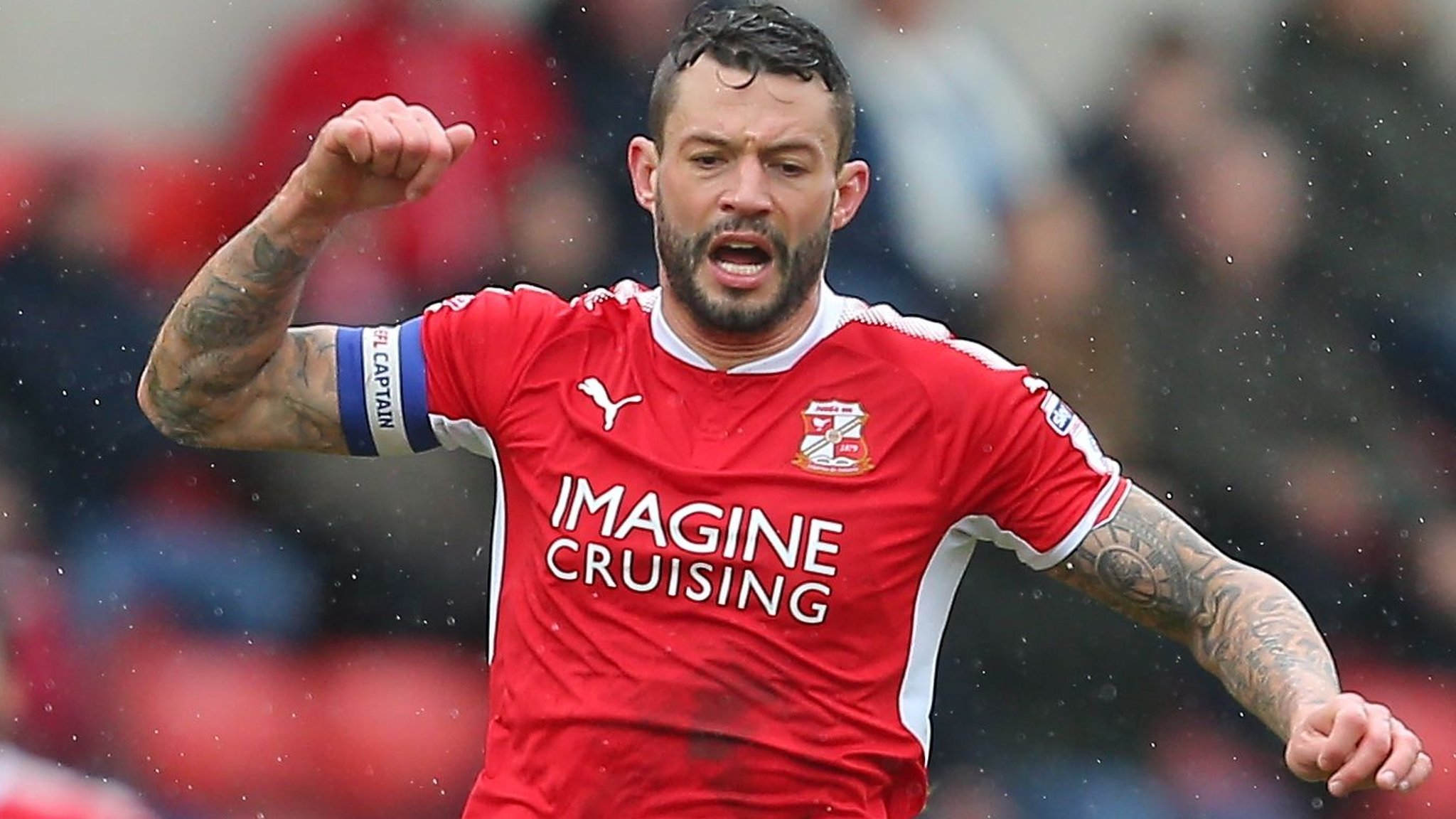 Swindon Town: Marc Richards out for two months with injury