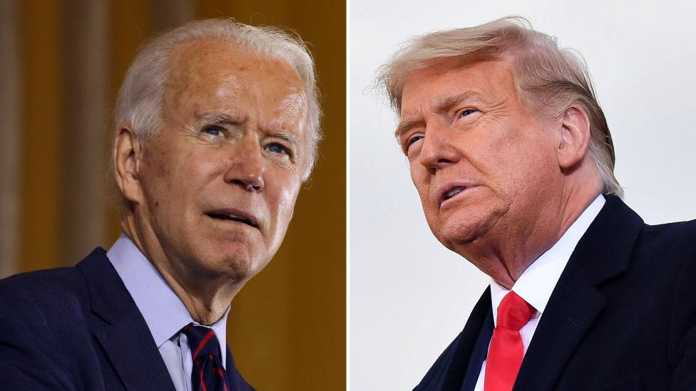 Biden and Trump composite