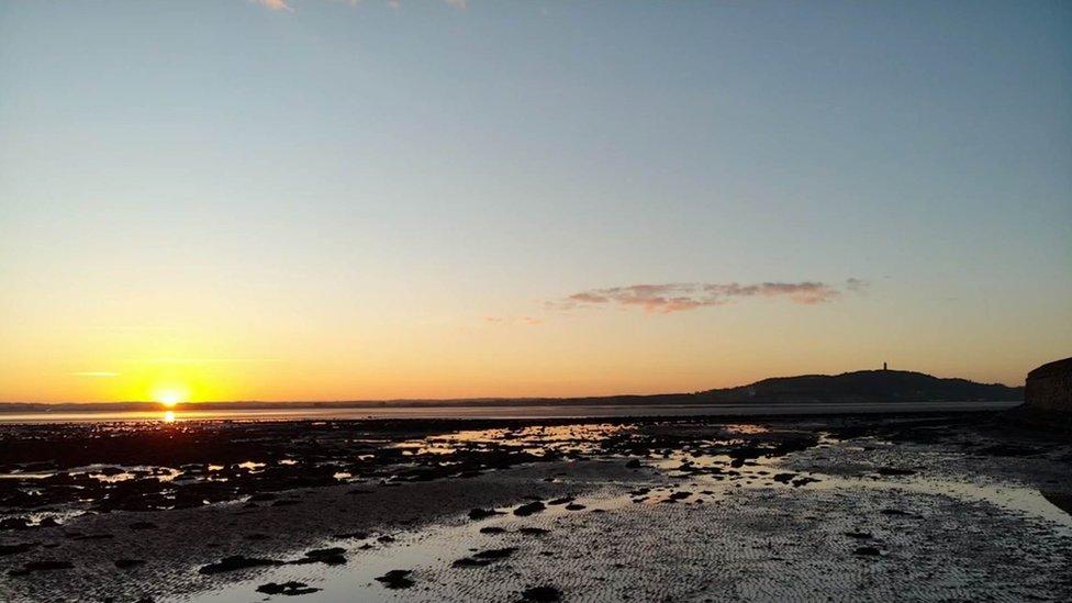 The sun beginning to climb over Strangford Lough last week