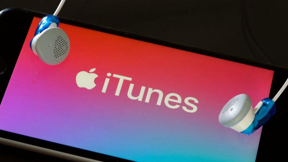 iTunes en un móvil