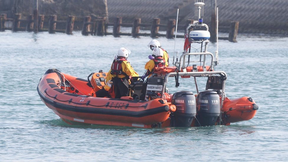 Search after empty dinghy found drifting offshore