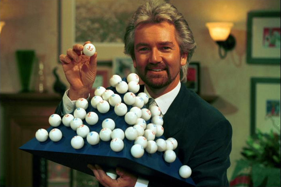 Noel Edmonds hosting the National Lottery draw in 1994