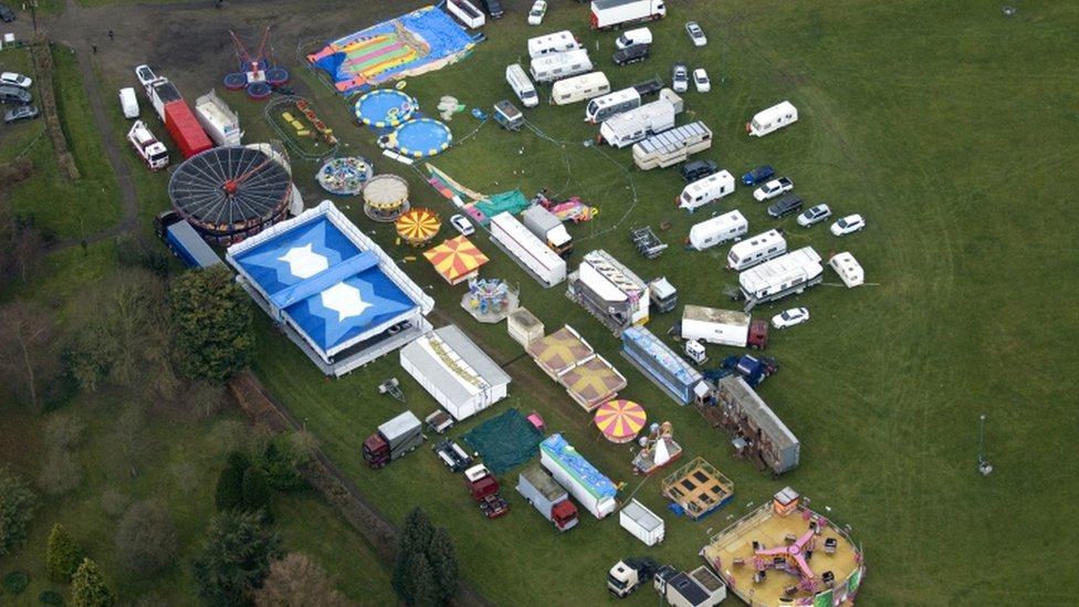 The Easter fair in Harlow Town Park