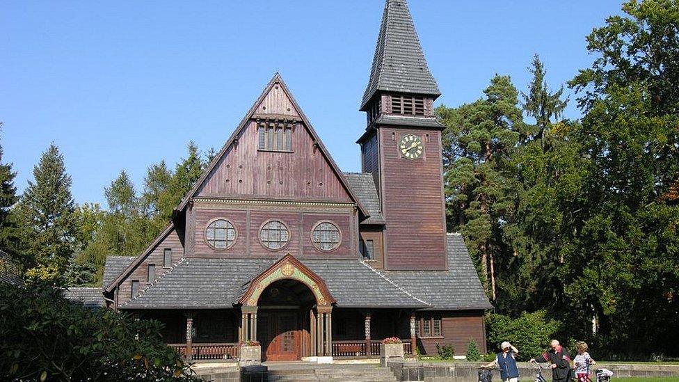 Capela protestante no cemitério de Stahnsdorf