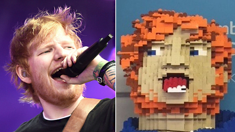 Ed Sheeran donates Lego head to local charity shop