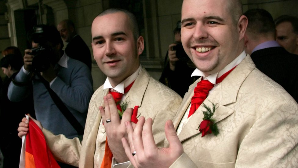Chris and Henry Flanagan-Kane were the first gay couple to become civil partners