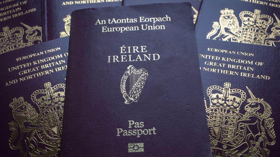 Passports Irish and British