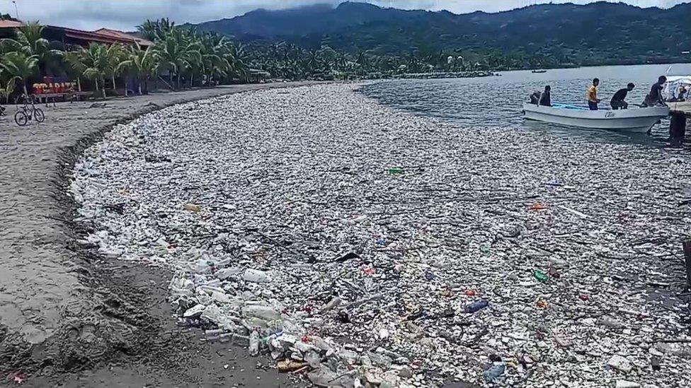 basura entre Honduras y Guatemala