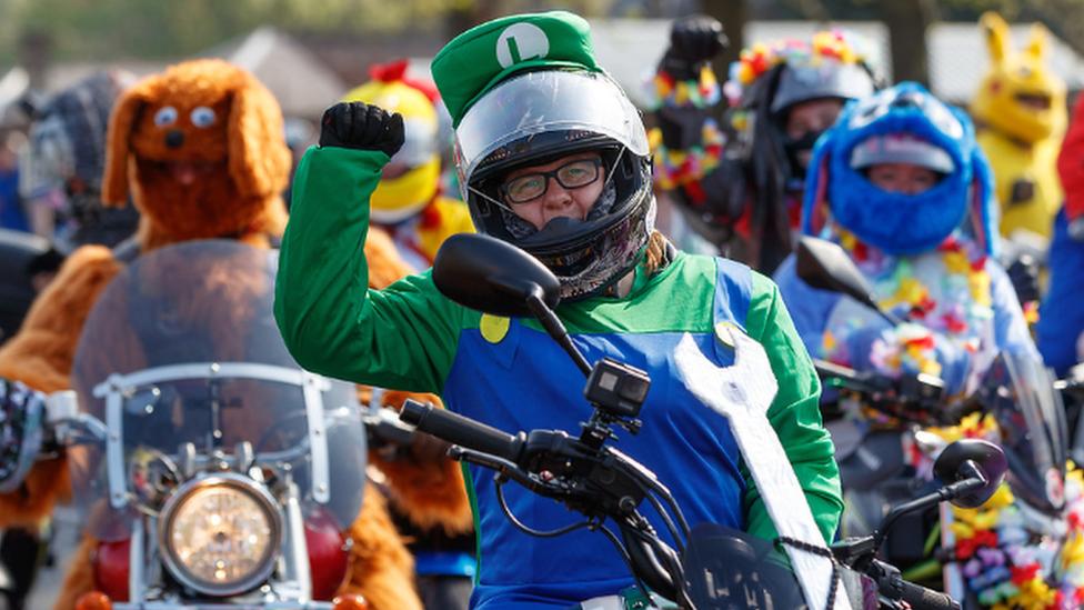Easter funnies: Bikers go on egg run