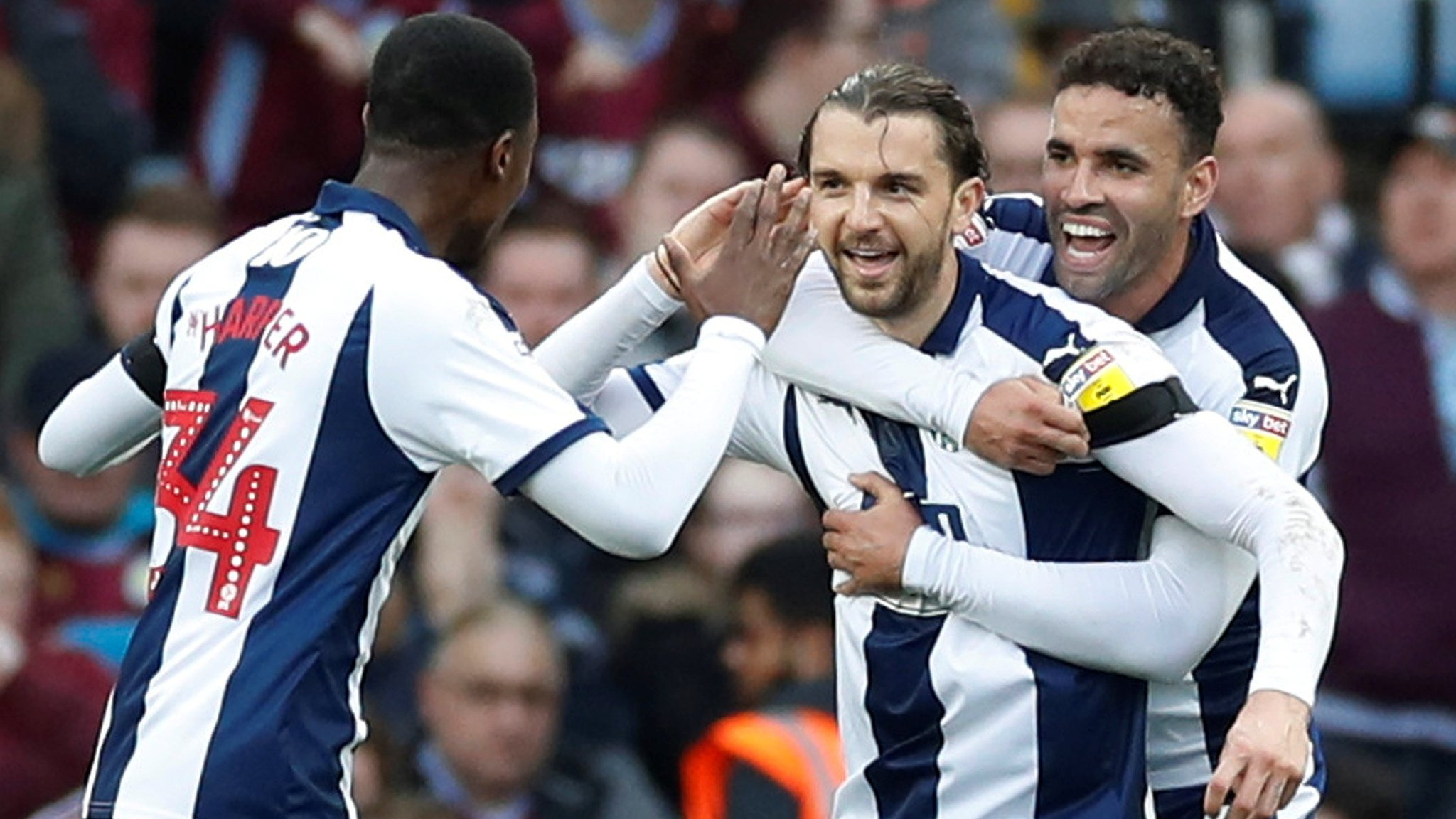 Aston Villa 0-2 West Brom: Two goals in four minutes seal derby win for visitors