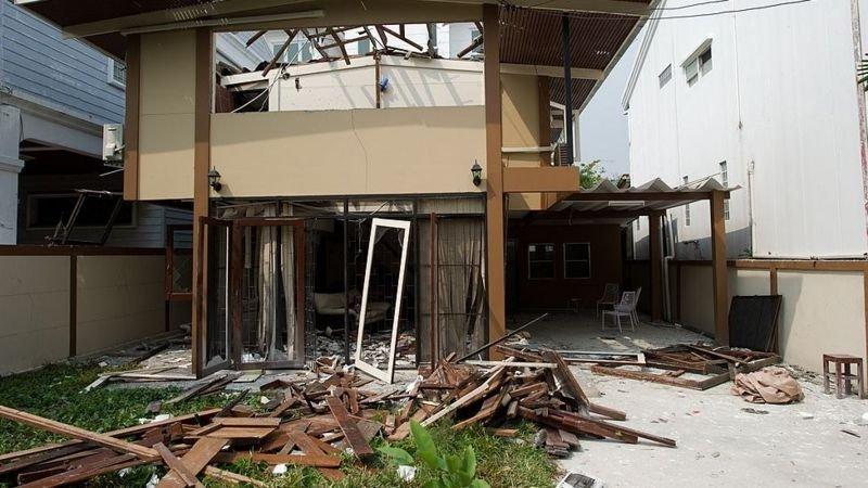 المنزل بعد الانفجار