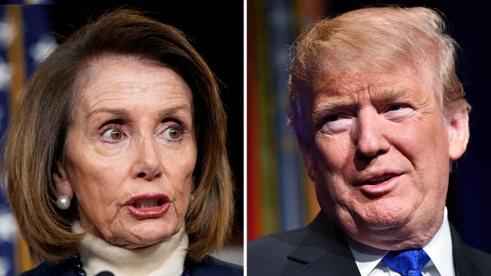 Nancy Pelosi y Donald Trump