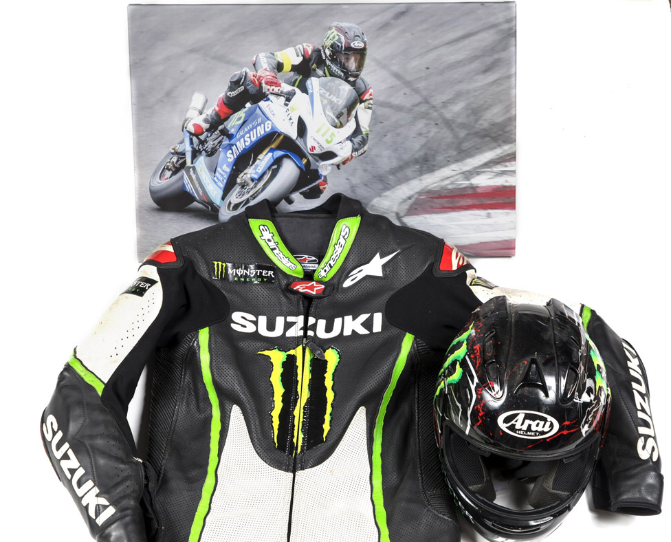 Keith Flint's motorbike leathers
