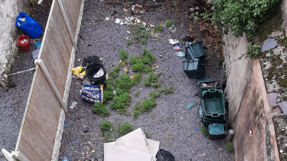 "The garden had ""rubbish"" and ""dog excrement"" in it when the family moved in"